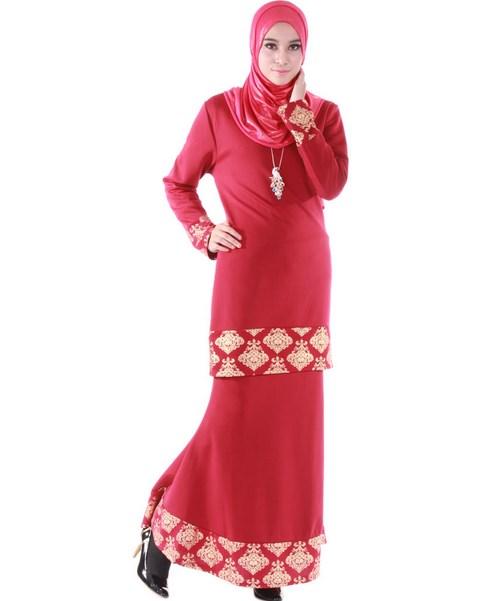 Baju Kurung Muslimah Warna Pink Cantik