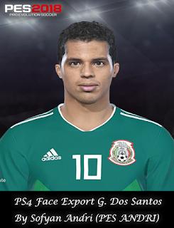 PES 2018 Faces Giovani dos Santos By Sofyan Andri