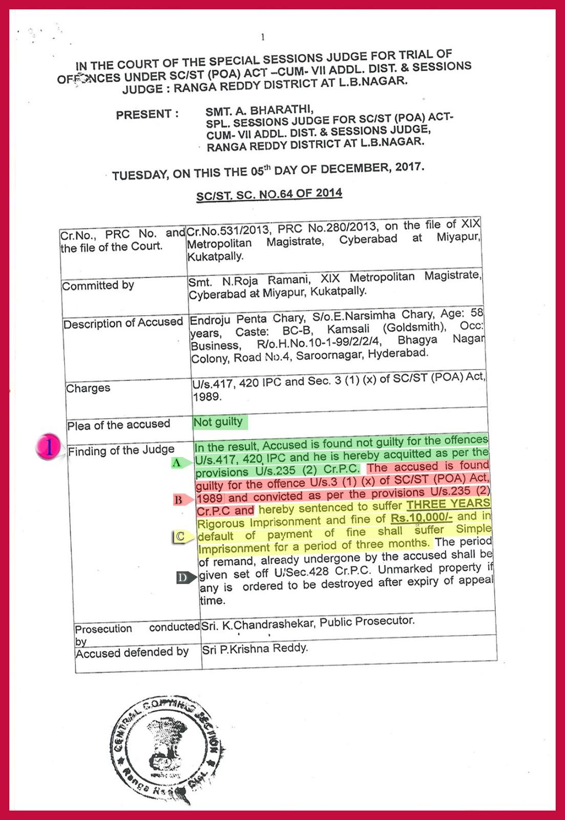 Rangareddy Court Judgment