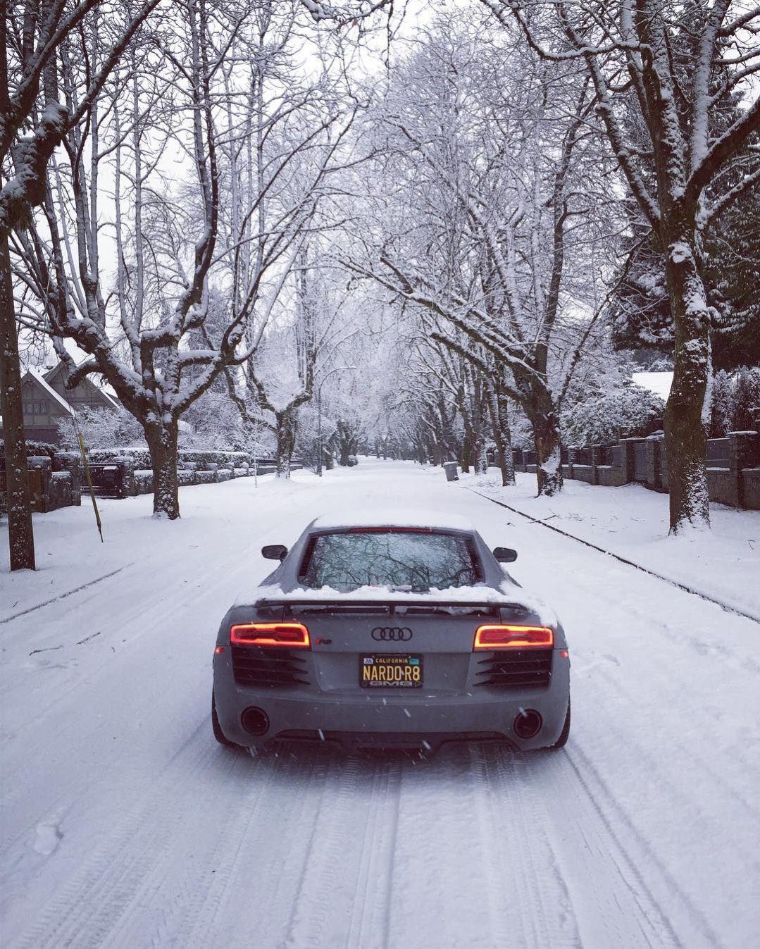A good sled. NardoGrey Audi R8