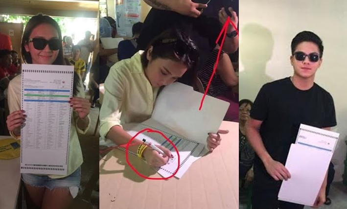 KathNiel takes election 'selfie with ballots,' causes online uproar