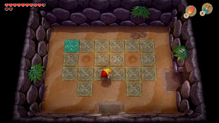the first Master Stalfos room in the Catfish's Maw, where the eyes on the floor have been dug up