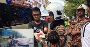 Thumbnail image for Baju Ditarik Rim, Tangan Disambar Tersepit Pada Rim Motosikal