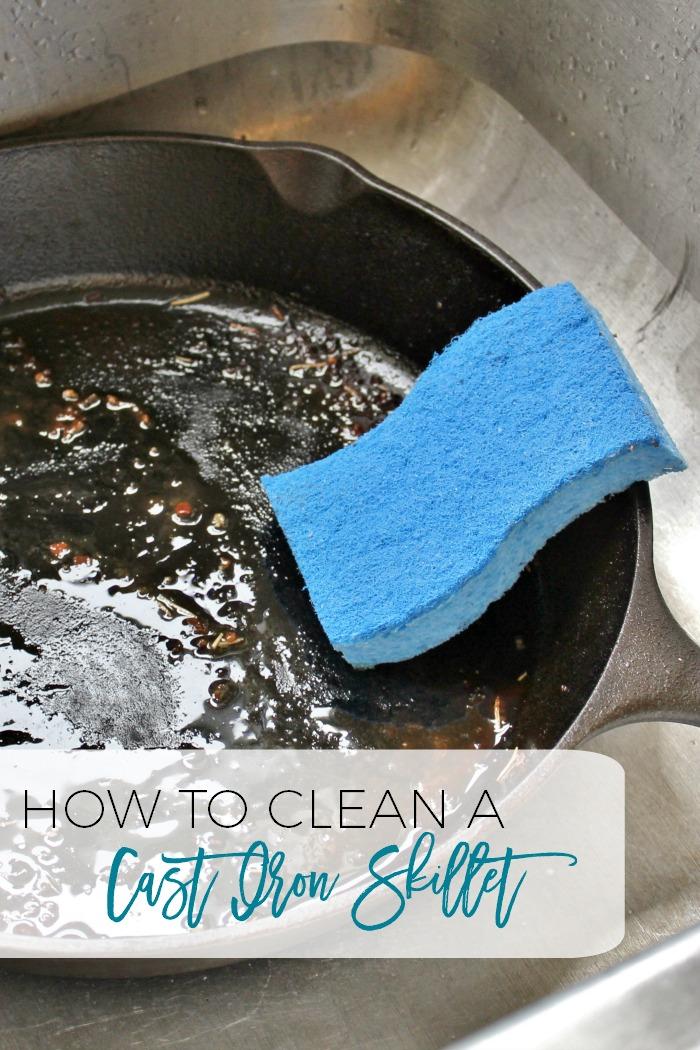 how to clean a cast iron skillet plus a one skillet lemon asparagus pork chop recipe simple. Black Bedroom Furniture Sets. Home Design Ideas