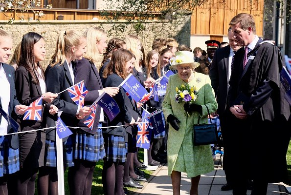 The Queen visited King's Bruton School. The Queen later visited Hauser & Wirth Somerset