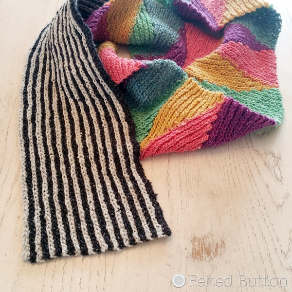 Felted Button Colorful Crochet Patterns Long And Short Scarf Reveal