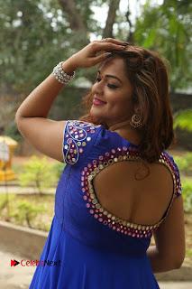 Actress Ashwini Stills in Blue Chudidar at Ameerpet Lo Release Press Meet  0071.JPG