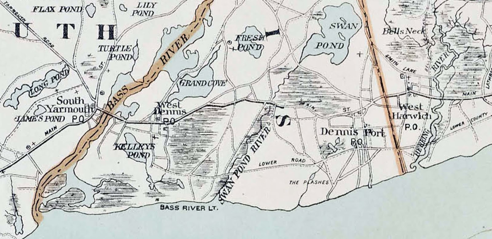 a look at this 1922 map of dennisport shows us that as compared with the roads of today