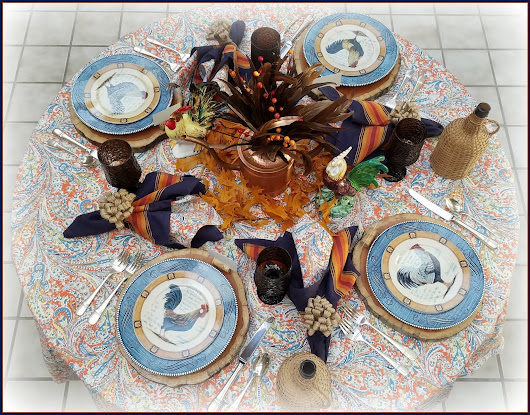 Fowl and Feather Fall Tablescape