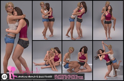 i13 Girlfriends Pose Collection for the Genesis 3 Female