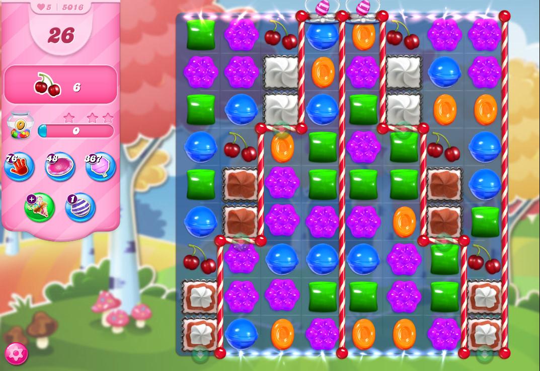Candy Crush Saga level 5016