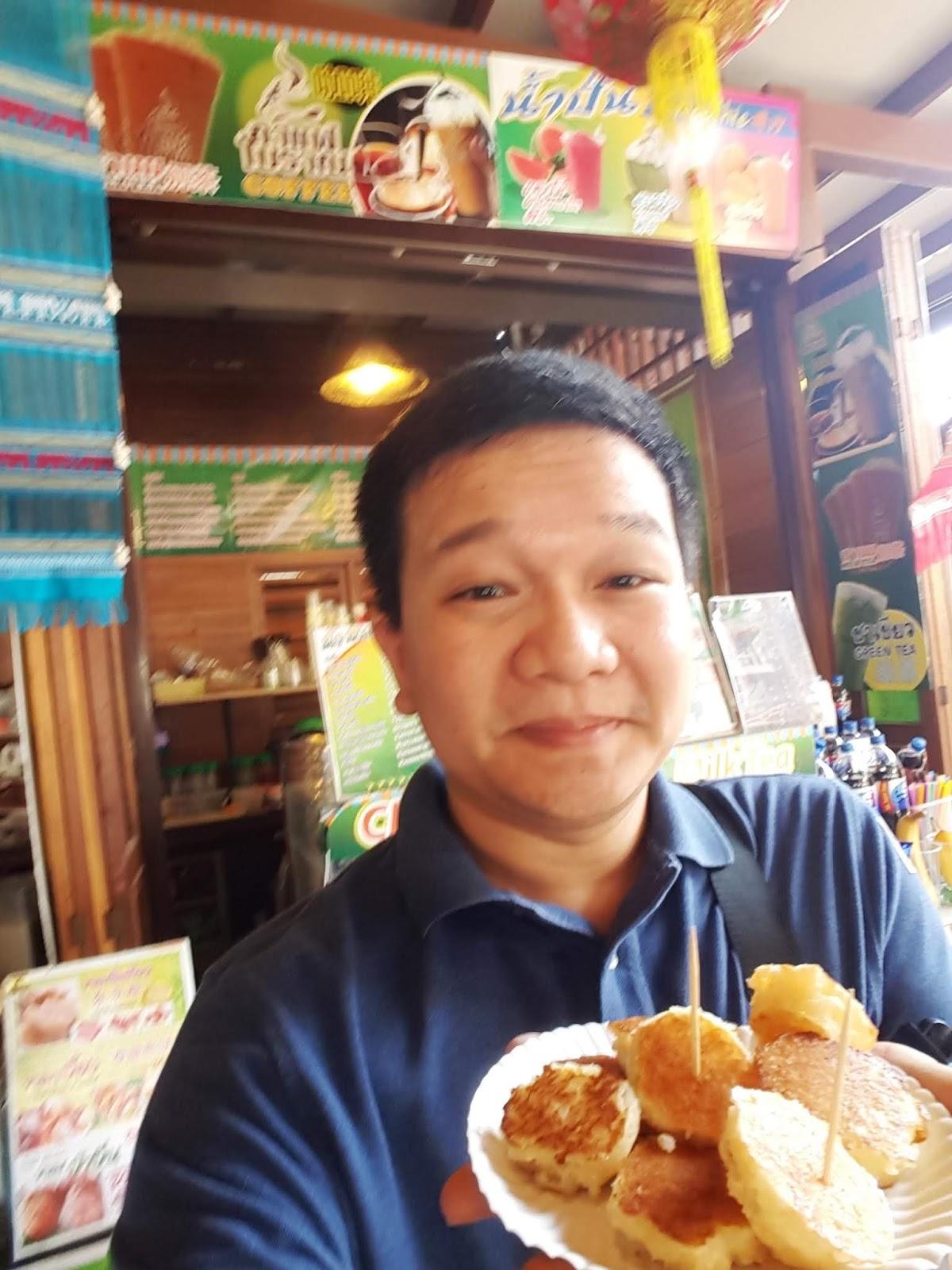 泰國四方水上市場-泰脆煎餅