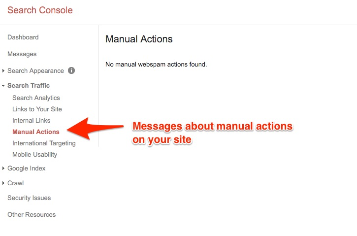 Google manual Action Penaltie