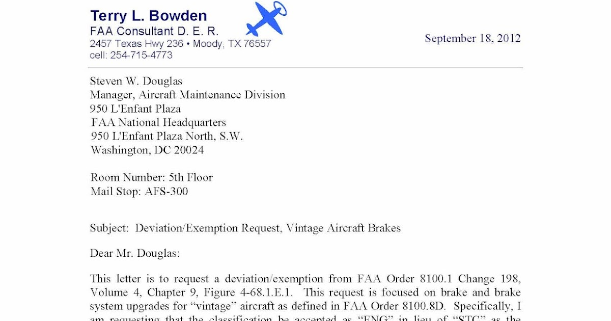 Terry Bowden Consultant Der Putting The Quot Brakes Quot On Faa
