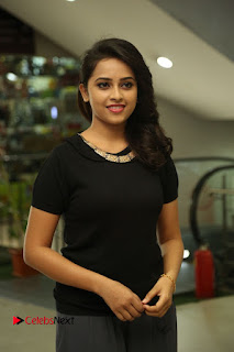 Actress Sri Divya Latest Pictures in Black Top  0106.JPG