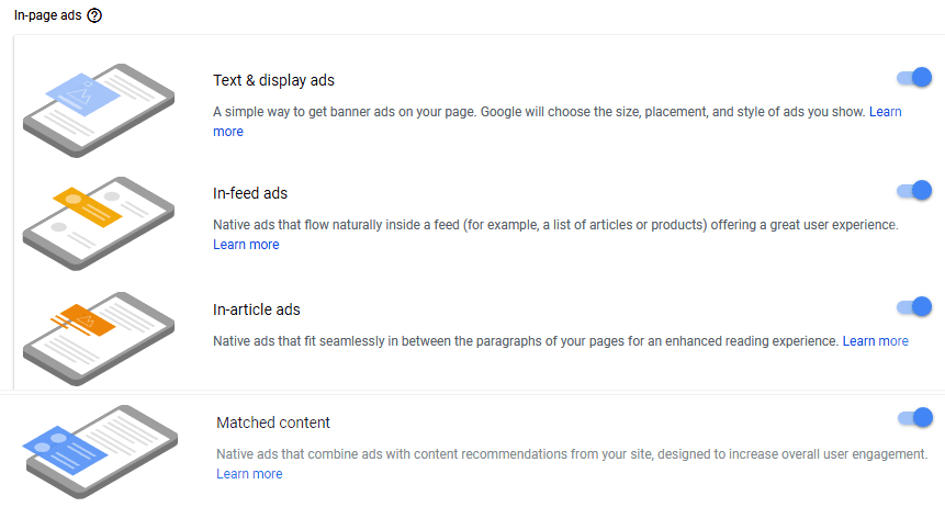 Adsense auto in page ads