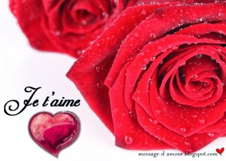 trois rose coeur je t'aime