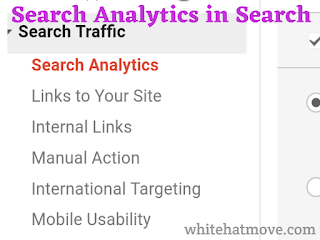 Search Analytics In Google Console