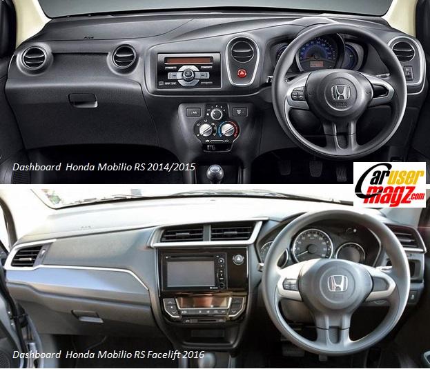 Perbandingan Dashboard Honda Mobilio Facelift tipe GS vs Mobilio GS versi Lawas