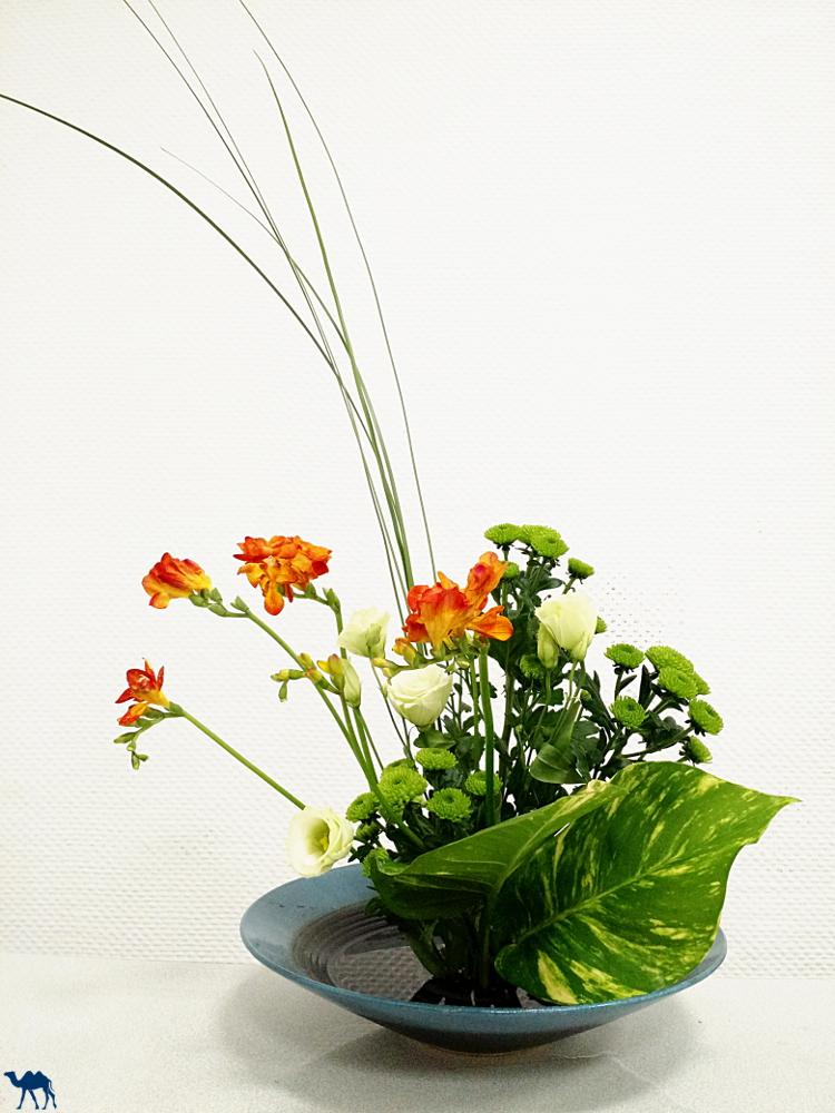 Le Chameau Bleu - Atelier Paris Ikebana  composition florale - Ikebana nippon - art