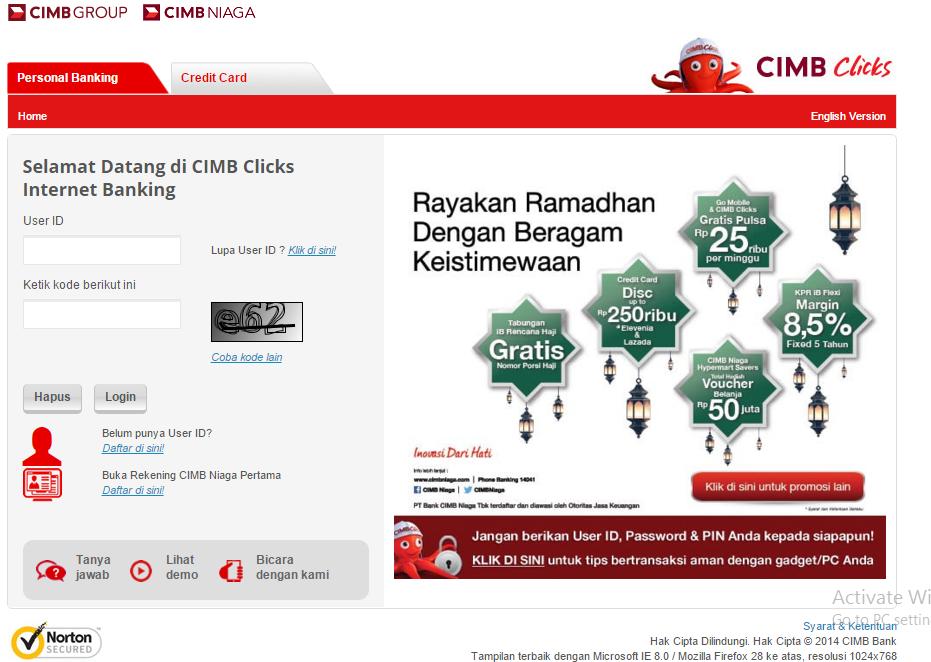 TF) Daftar Deposito Berjangka CIMB Niaga Melalui cimbclicks | Riza