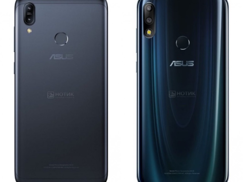 ASUS ZenFone Max M2 back design (left) and ASUS ZenFone Max Pro M2 back design (right)