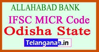 ALLAHABAD BANK IFSC MICR Code Odisha State