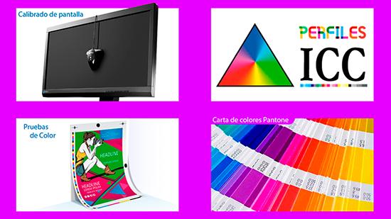 medios para igualar color de la pantalla al papel impreso