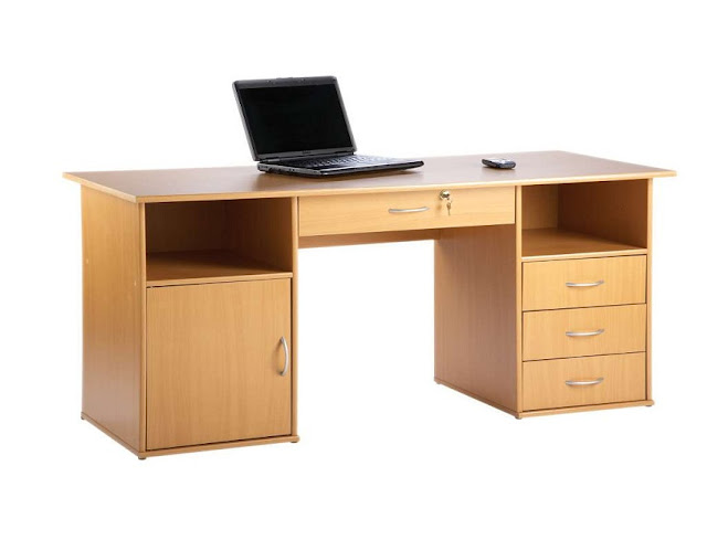 best wooden home office desk beech for sale cheap