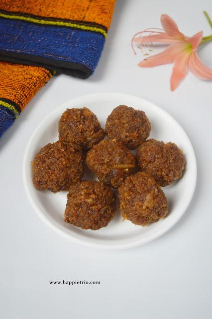 Coconut Jaggery Ladoo Recipe | No Sugar Coconut Ladoo