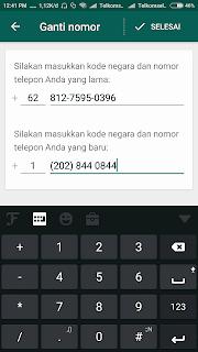 Cara Mengganti Nomor Whatsapp Ke Nomor Luar Negeri