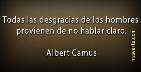 Frases célebres de Albert Camus
