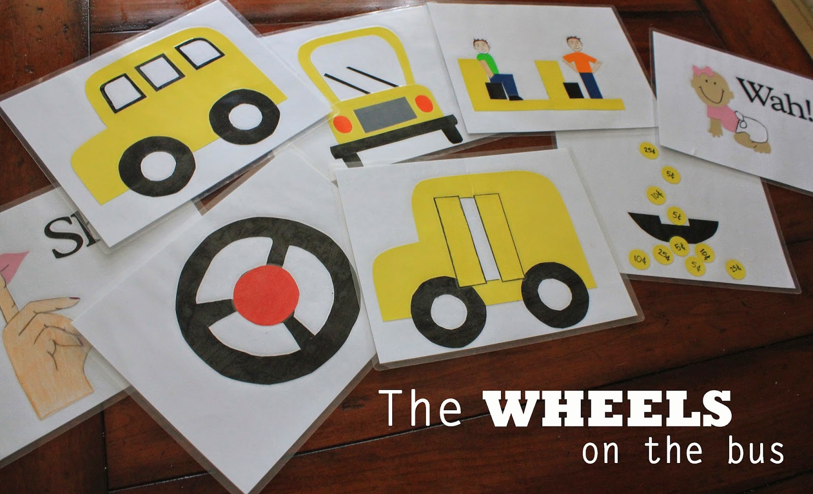 Days In Neverland Wheels On The Bus Sing A Long Cards