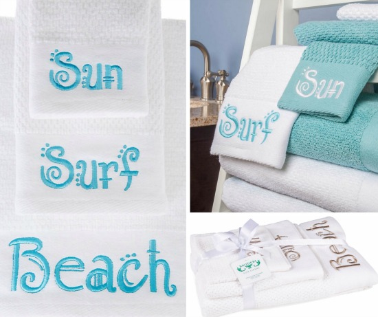 Beach Words Bath Towels