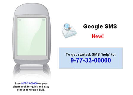 How to]Get google results through sms for free- 9773300000