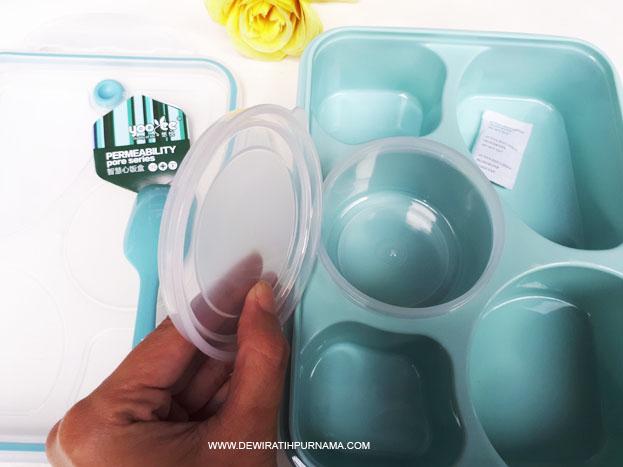 yooyee lunchbox kotak makan sekat anak