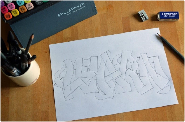Ini Dia Cara Membuat Tulisan Grafiti Nama  Gratisan Pol