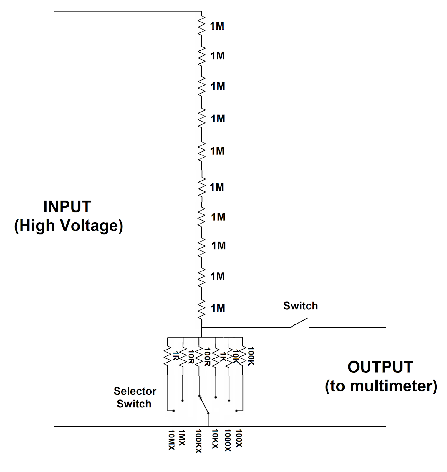 high voltage probe for multimeter