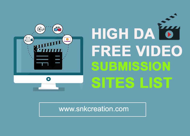 high DA Free Video Submission Sites List