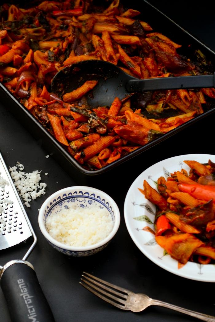 Rich Tomato & Roast Vegetable Pasta Bake