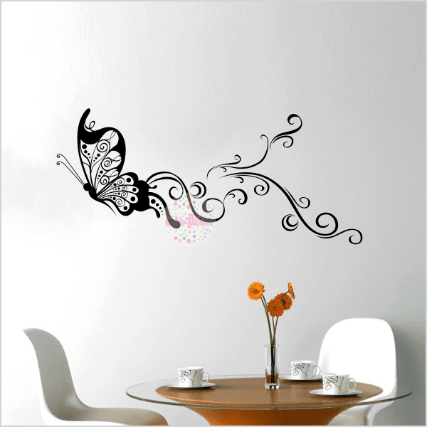 Vinilos decorativos ornamental pictures to pin on for Vinilos mariposas