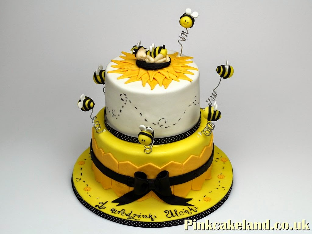 1st Birthday Cake with Bees