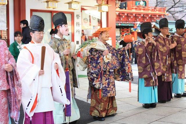 Daikoku (the god of wealth) Matsuri Festival at Kanda Myojin, Chiyoda, Tokyo