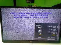 serviceLED TV Gambar terbalik