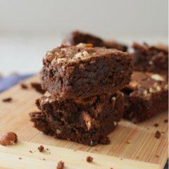 Receta para preparar brownies de chocolate para dos