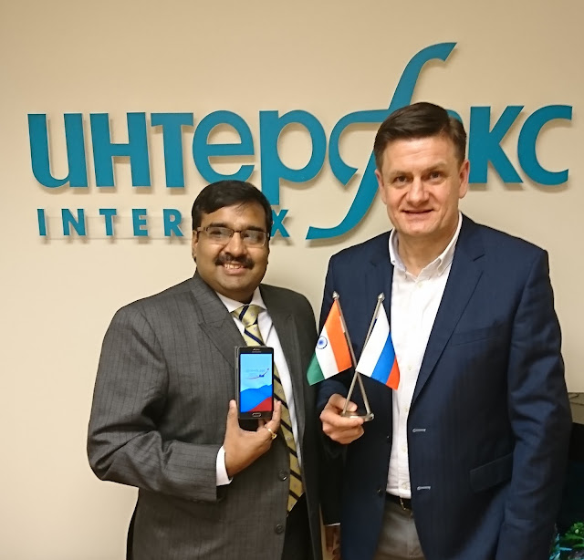 LtoR - Dr. Ajay Data, Indian Innovator Founder and CEO, Data XGen Tech and Mr. Alexei Sozonov, Director of Webnames LLC and CEO of newly