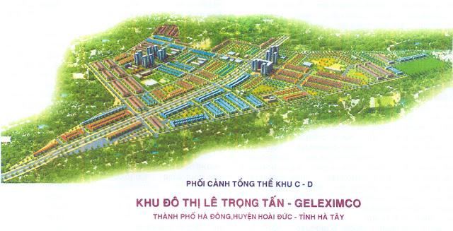 tổng thể khu đô thị geleximco lê trong tấn