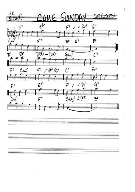 Partitura Trombón Duke Ellington