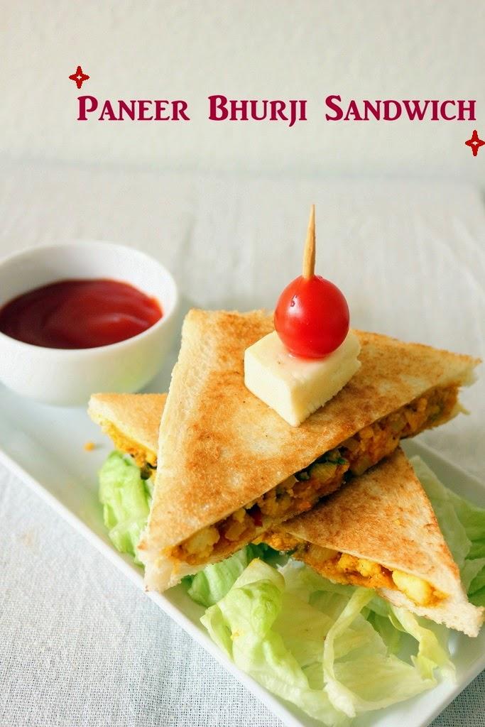 Recipe of Paneer Bhurji Sandwich | How to Make Paneer ...