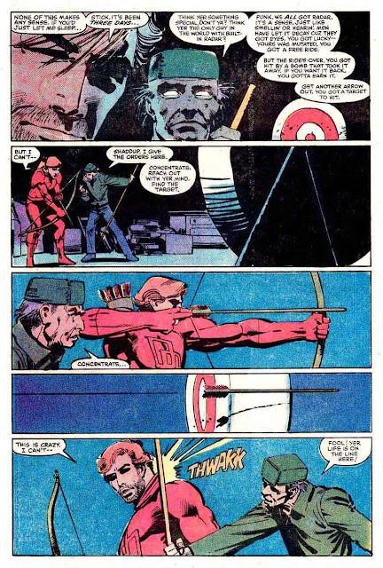 Daredevil v1 #177 marvel comic book page art by Frank Miller